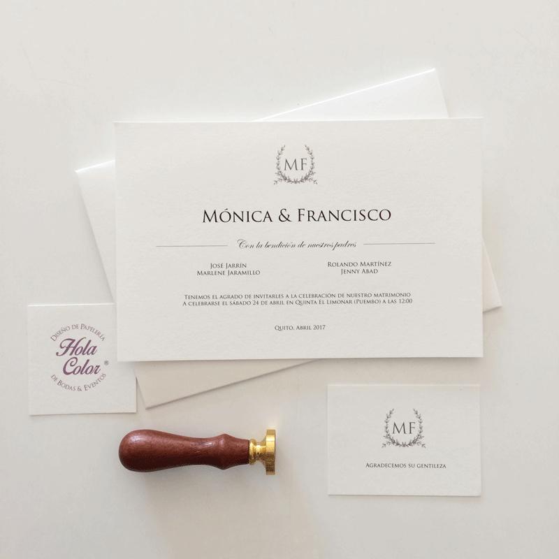 """Invitación """"Mónica"""""""