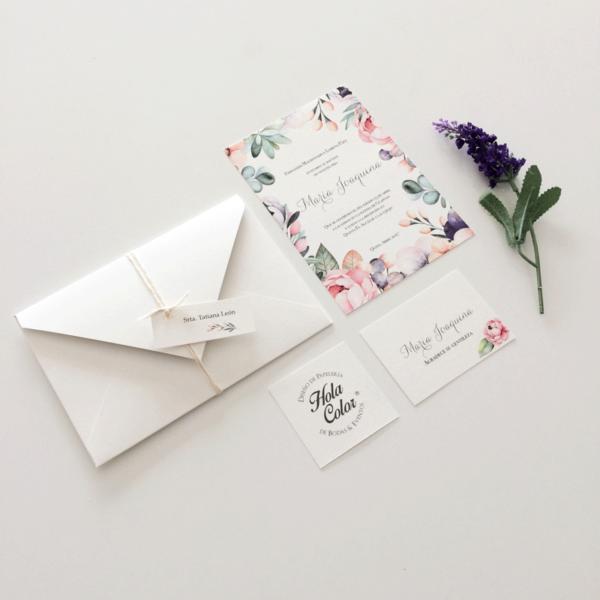 """Invitación """"Floral"""""""