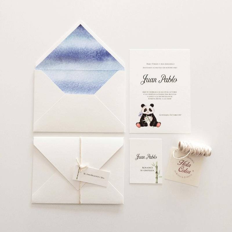 """Invitación """"Panda"""""""