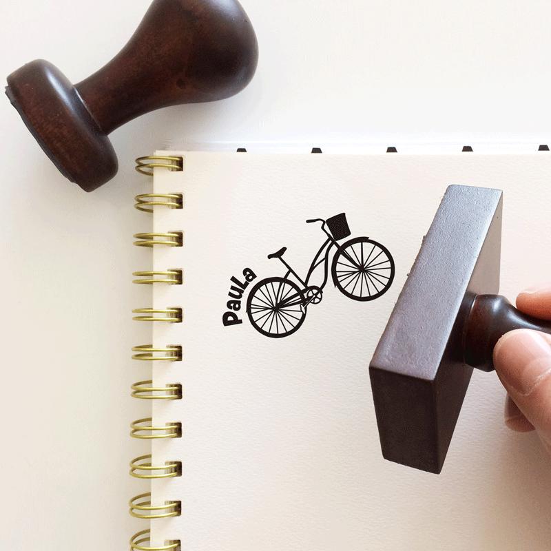 """Sello de Goma """"Bicicleta Vintage 2"""""""