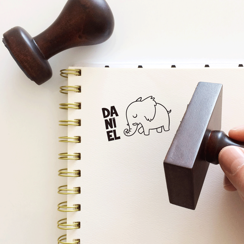 """Sello de Goma """"Elefante"""""""