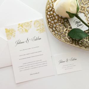 """Invitación """"Golden White Ligth"""""""