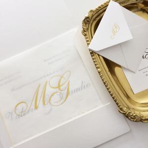 """Invitación """"Golden White Premium"""""""