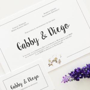 "Invitación ""Gabby"""