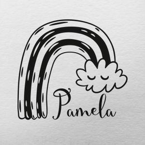 "Sello de Goma ""Nube Arco iris 2"""