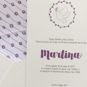 "Invitación ""Martina"""