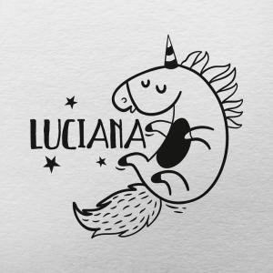 """Sello de Goma """"Unicornio"""""""