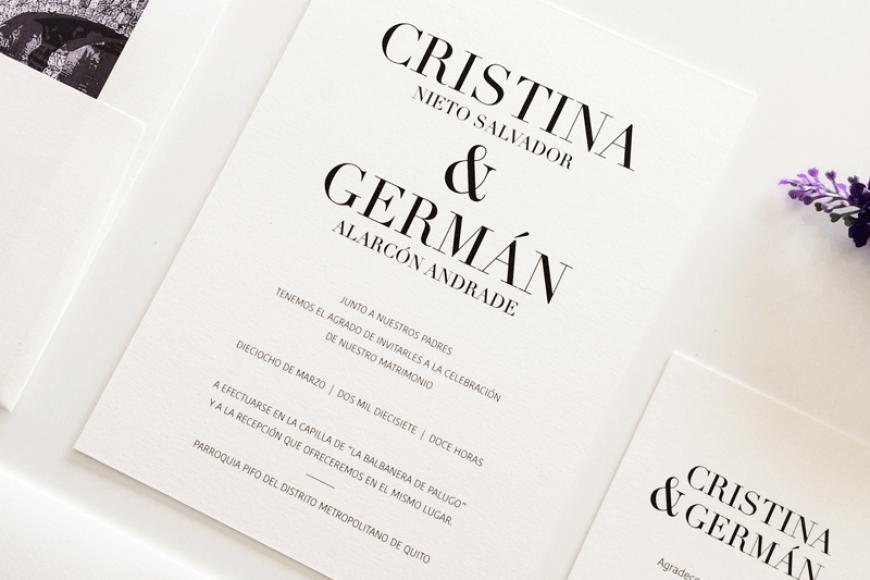 Puro arte para Cristina & Germán
