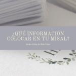 ¿Qué información incluir en tu Misal de Bodas?