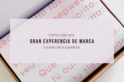 ¿Cómo crear una gran experiencia de marca a través de la palería?